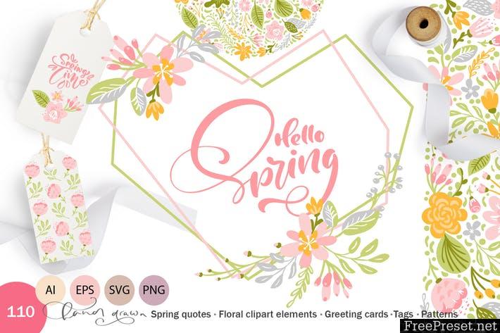 Fresh Feeling Spring Vector Kit Svg Msqglm Ai Eps Png Svg