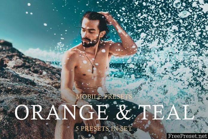 Orange and Teal Mobile Presets 3975366