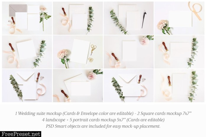 Download Wedding Stationery Mockup Bundle 2709420 PSD Mockup Templates