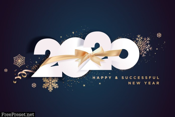 Business Happy New Year 2020 Greeting Card Whtx7gu