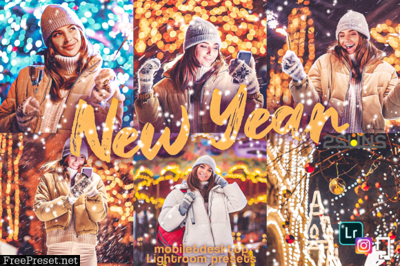 5 New Year Mobile Lightroom Presets 2333135