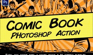 Comic Book Photoshop Action 2296365