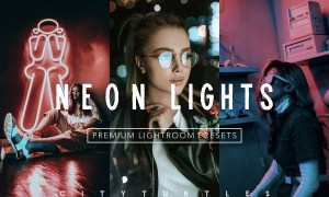 Moody NEON LIGHTS Lightroom Presets 4335929