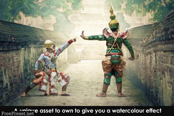 Watercolour Photoshop Action 2362177