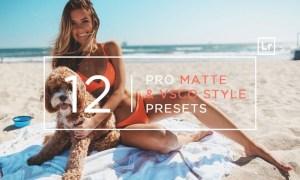 12 Pro Matte + VSCO Style Lightroom Presets