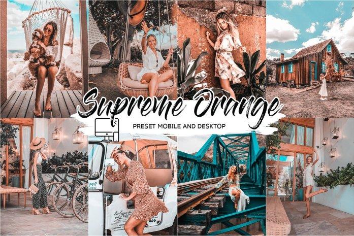 SUPREME ORANGE LIGHTROOM PRESETS 4432960
