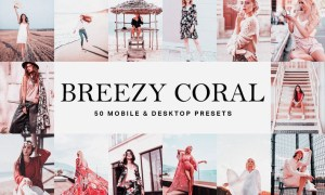 50 Breezy Coral Lightroom Presets and LUTs