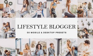 50 Lifestyle Blogger Lightroom Presets and LUTs
