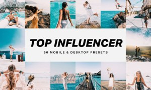 50 Top Influencer Lightroom Presets and LUTs