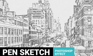 Pen Sketch Photoshop Plugin  CW7ENSS