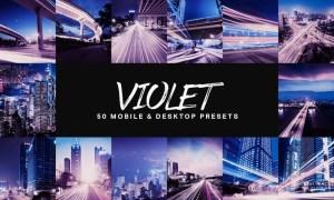50 Violet Lightroom Presets and LUTs