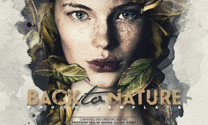 Back To Nature Photo Template 25898727