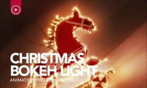 Gif Animated Christmas Bokeh Photoshop Action 4BQPQ3U