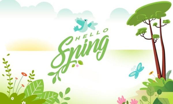 Hello spring banner FCPBXJ3