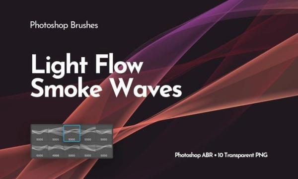 Light Smoke Waves Photoshop Brushes Z3QC657