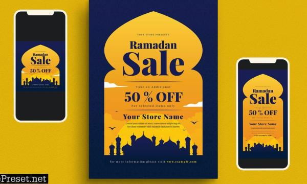 Ramadan Sale Flyer Set