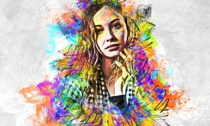 Acrylic Abstract Paints Photoshop Action 26754690