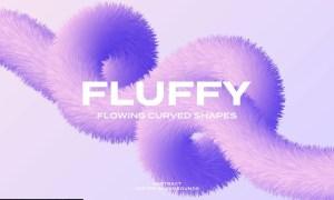 Fluffy Curved Shapes Vector Backgrounds 3YWNHVT