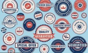 Collection Retro Sale Labels Social Media Ads JZWNZS