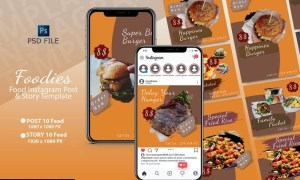FOODIES INSTAGRAM TEMPLATE V5EDQK7