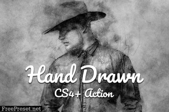 Hand Drawn CS4+ Photoshop Action NB7MWXD