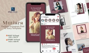 MUTIARA - Instagram POST & STORY Templates N2VYY6J
