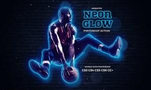 Neon Glow Photoshop Action KU9NKZ8