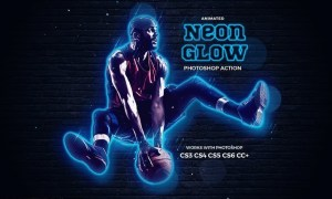 Neon Glow Photoshop Action KU9NKZ8