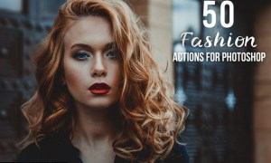 50 Fashion Photoshop Actions 3UHG8ST