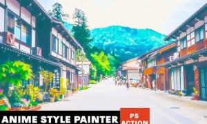 Anime Style Painter Photoshop Action UQEUGRP