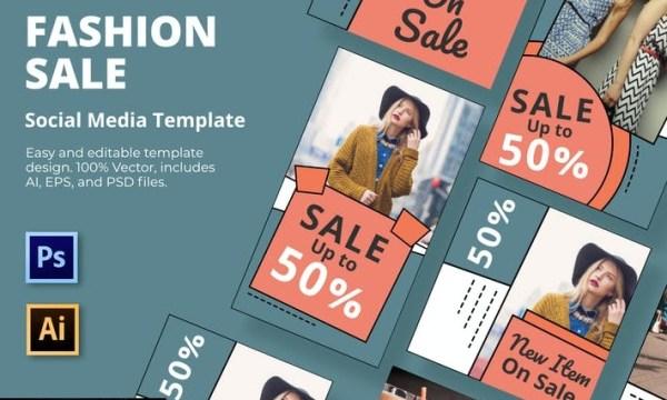 Fashion Sale Social Media Template  EGKB36Y