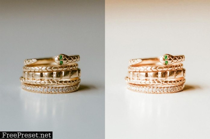Jewelry Lightroom Presets. Gold Edition desktop mobile presets