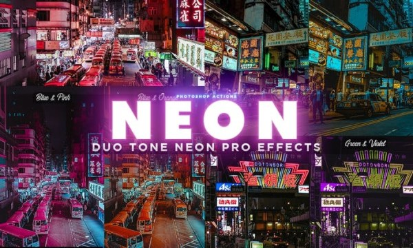 NEON PRO Photoshop Actions DC7THRP