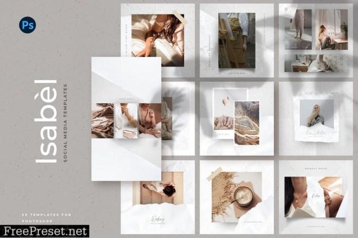 Paper Social Media Templates HWWA9B4