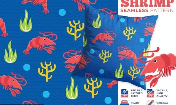 Shrimp Seamless Pattern Q3P3DHX
