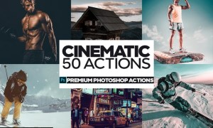 50 Cinematic Photoshop Actions NYXR8FY