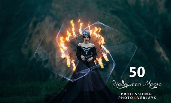 50 Halloween Magic Photo Overlays H8MABLX