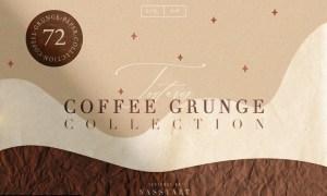 72 Coffee Grunge Textures FCPUZR7