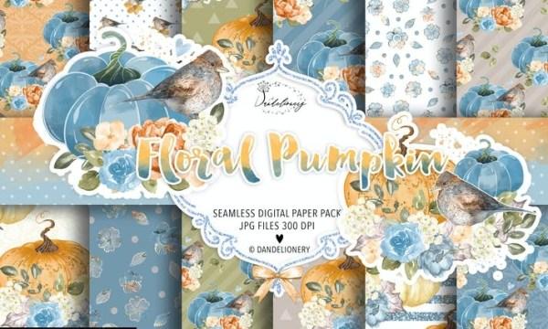 Fall Pumpkin VI. digital paper pack 3A66VYJ