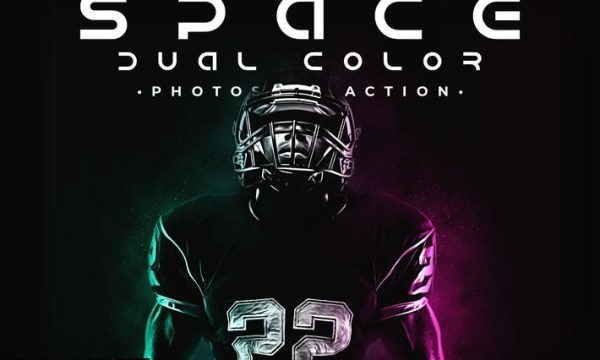 Space Dual Color Photoshop Action DJ9QRKV