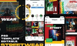 Streetwear - Instagram Post and Stories RB4AGZQ