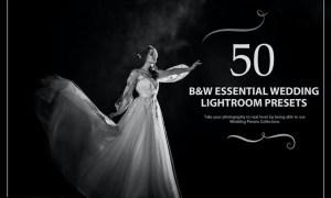50 B&W Essential Wedding Lightroom Presets