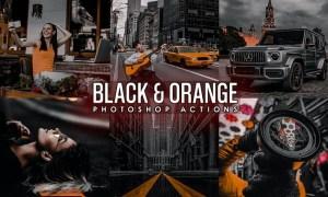 Black and Orange Photoshop Actions 3TCKDQC