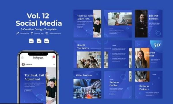 Businesy - Social Media Template Vol. 12 W7LELM9