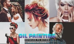 Detailed Oil Painting Photoshop Action FAX8QBF