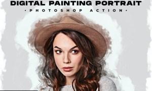 Digital Painting Portrait - Photoshop Action ANPKTT8