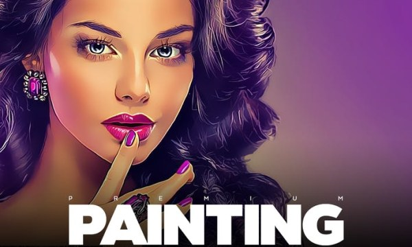 Painting Photoshop Action T64WF8P