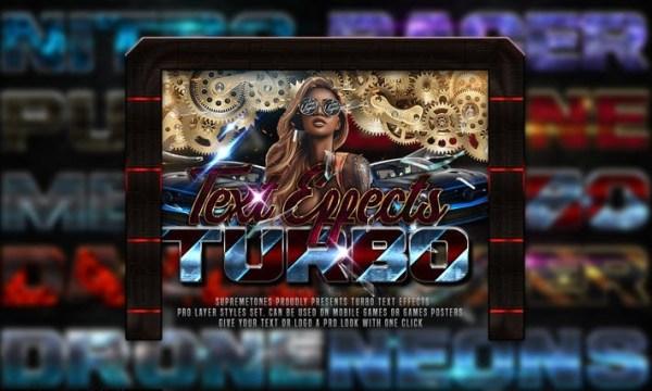 Turbo Photoshop Text Effects ZRHLTVU