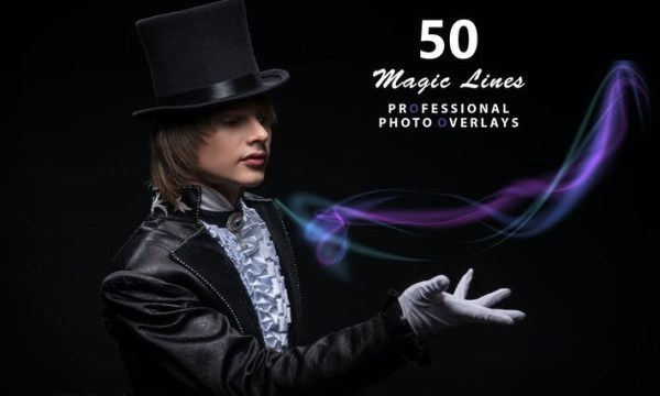 50 Magic Lines Photo Overlays 75YL2EH