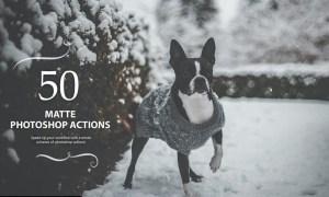 50 Matte Photoshop Actions JLXCRCR